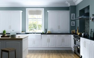 Cottage Arch White supplied by Arley Cabinets Kitchen Company