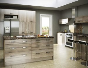 Driftwood kitchen supplied by Arley Cabinets Kitchen Company