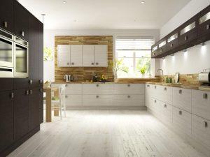 Premier Oak Melinga and White Avola Kitchen Jan 2012