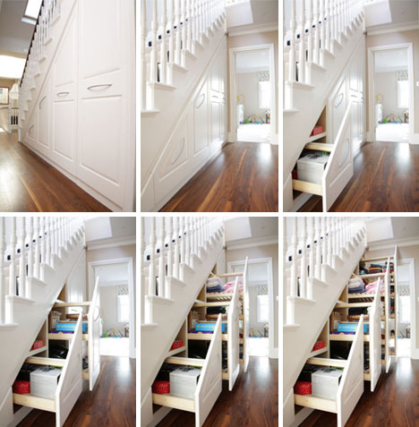 Under the stairs storage solution. As featured on dornob.com